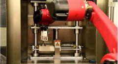 微孔抛光机+机械手臂实现自动抛光视频